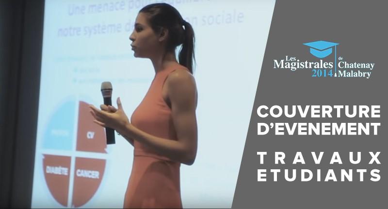 Couverture d'événement filmée par Feniks Studios : les étudiants du master ont présenté leurs projets sur le thème de la e-santé, devant un jury de professionnels...