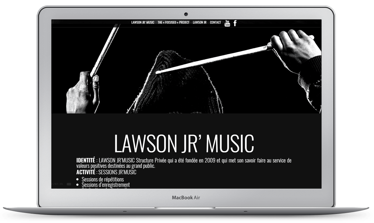 Site web Lawson Jr Music