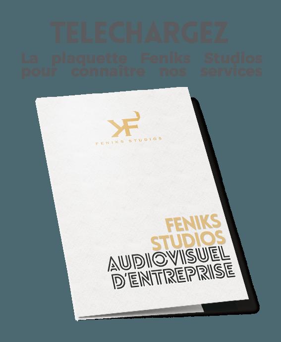 plaquette feniks studios audiovisuel d'entreprise